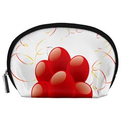 Balloon Partty Red Accessory Pouches (large)