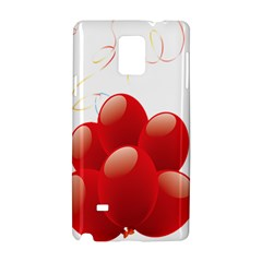 Balloon Partty Red Samsung Galaxy Note 4 Hardshell Case by Alisyart