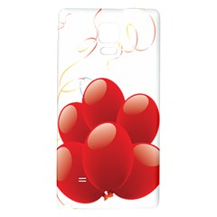Balloon Partty Red Galaxy Note 4 Back Case by Alisyart