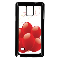 Balloon Partty Red Samsung Galaxy Note 4 Case (black) by Alisyart