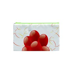 Balloon Partty Red Cosmetic Bag (xs) by Alisyart