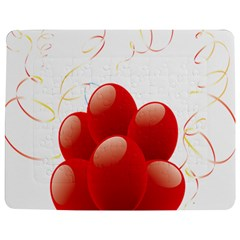 Balloon Partty Red Jigsaw Puzzle Photo Stand (rectangular) by Alisyart