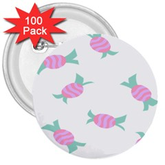 Candy Pink Blue Sweet 3  Buttons (100 Pack)  by Alisyart