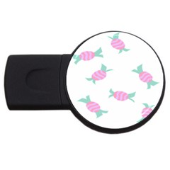 Candy Pink Blue Sweet Usb Flash Drive Round (2 Gb)