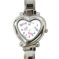 Candy Pink Blue Sweet Heart Italian Charm Watch