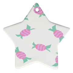 Candy Pink Blue Sweet Star Ornament (two Sides)