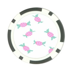 Candy Pink Blue Sweet Poker Chip Card Guard by Alisyart