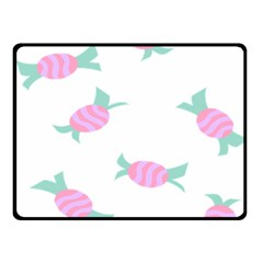 Candy Pink Blue Sweet Fleece Blanket (small) by Alisyart