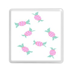 Candy Pink Blue Sweet Memory Card Reader (square)
