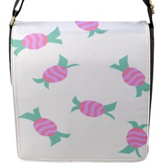 Candy Pink Blue Sweet Flap Messenger Bag (s) by Alisyart