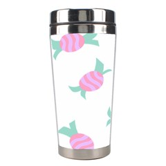 Candy Pink Blue Sweet Stainless Steel Travel Tumblers by Alisyart