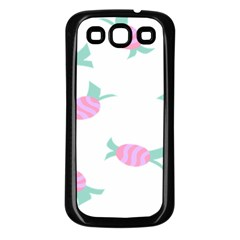Candy Pink Blue Sweet Samsung Galaxy S3 Back Case (black)