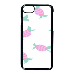 Candy Pink Blue Sweet Apple Iphone 7 Seamless Case (black) by Alisyart