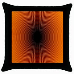 Abstract Circle Hole Black Orange Line Throw Pillow Case (black)