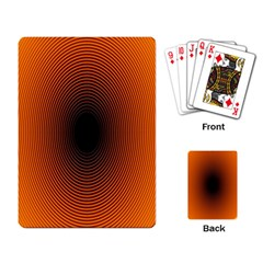 Abstract Circle Hole Black Orange Line Playing Card by Alisyart