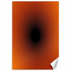 Abstract Circle Hole Black Orange Line Canvas 12  X 18   by Alisyart