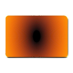 Abstract Circle Hole Black Orange Line Small Doormat