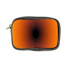 Abstract Circle Hole Black Orange Line Coin Purse by Alisyart