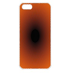 Abstract Circle Hole Black Orange Line Apple Iphone 5 Seamless Case (white) by Alisyart