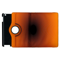 Abstract Circle Hole Black Orange Line Apple Ipad 2 Flip 360 Case by Alisyart