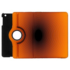 Abstract Circle Hole Black Orange Line Apple Ipad Mini Flip 360 Case by Alisyart