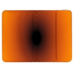 Abstract Circle Hole Black Orange Line Samsung Galaxy Tab 7  P1000 Flip Case