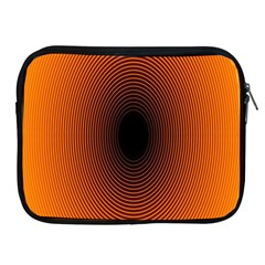 Abstract Circle Hole Black Orange Line Apple Ipad 2/3/4 Zipper Cases by Alisyart