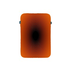 Abstract Circle Hole Black Orange Line Apple Ipad Mini Protective Soft Cases by Alisyart