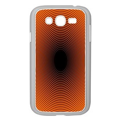 Abstract Circle Hole Black Orange Line Samsung Galaxy Grand Duos I9082 Case (white) by Alisyart