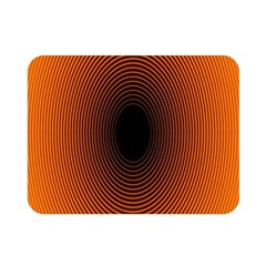 Abstract Circle Hole Black Orange Line Double Sided Flano Blanket (mini)  by Alisyart