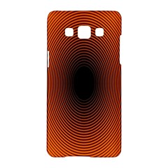 Abstract Circle Hole Black Orange Line Samsung Galaxy A5 Hardshell Case  by Alisyart