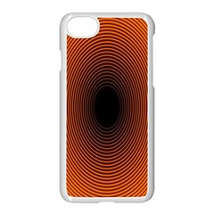 Abstract Circle Hole Black Orange Line Apple Iphone 7 Seamless Case (white) by Alisyart