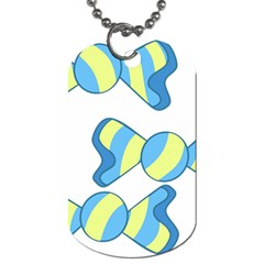 Candy Yellow Blue Dog Tag (one Side) by Alisyart