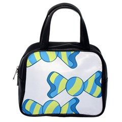 Candy Yellow Blue Classic Handbags (one Side) by Alisyart