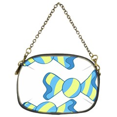 Candy Yellow Blue Chain Purses (two Sides)
