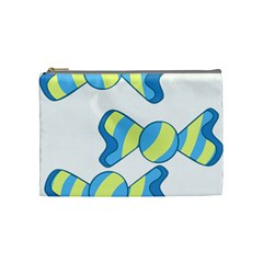 Candy Yellow Blue Cosmetic Bag (medium)