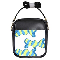 Candy Yellow Blue Girls Sling Bags by Alisyart