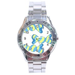 Candy Yellow Blue Stainless Steel Analogue Watch