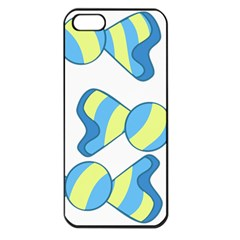 Candy Yellow Blue Apple Iphone 5 Seamless Case (black)