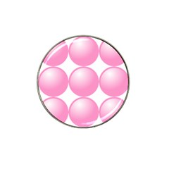 Circle Pink Hat Clip Ball Marker (4 Pack)