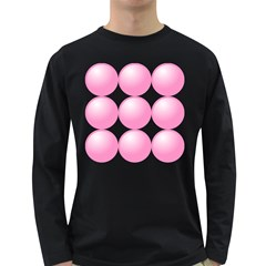 Circle Pink Long Sleeve Dark T Shirts by Alisyart