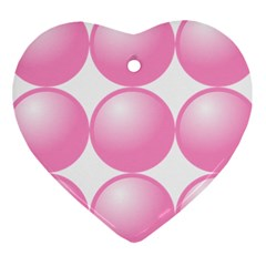 Circle Pink Heart Ornament (two Sides) by Alisyart