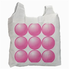 Circle Pink Recycle Bag (one Side) by Alisyart