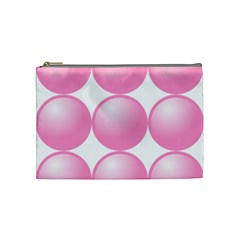 Circle Pink Cosmetic Bag (medium)  by Alisyart