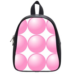 Circle Pink School Bags (small)