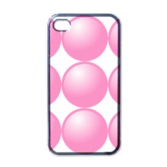 Circle Pink Apple Iphone 4 Case (black) by Alisyart