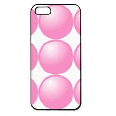 Circle Pink Apple Iphone 5 Seamless Case (black)