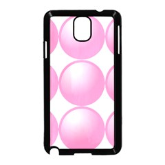 Circle Pink Samsung Galaxy Note 3 Neo Hardshell Case (black)
