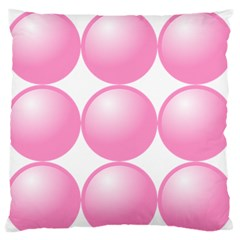 Circle Pink Standard Flano Cushion Case (two Sides) by Alisyart