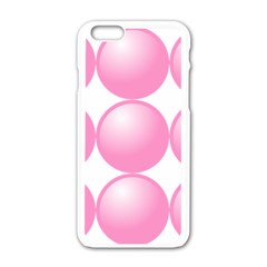 Circle Pink Apple Iphone 6/6s White Enamel Case by Alisyart